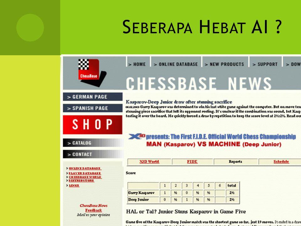 Seberapa Hebat AI Garry Kasparov VS Deep Blue © 1997