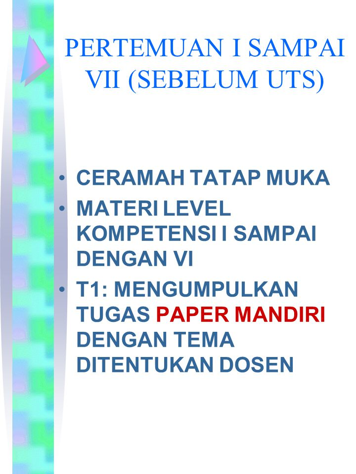 PERTEMUAN I SAMPAI VII (SEBELUM UTS)