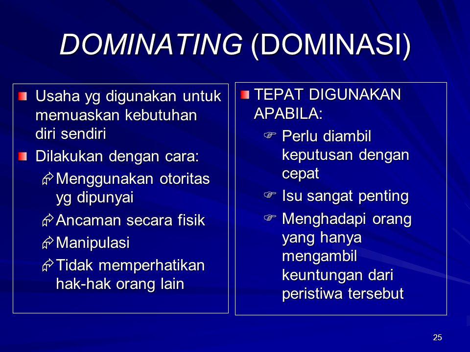 DOMINATING (DOMINASI)