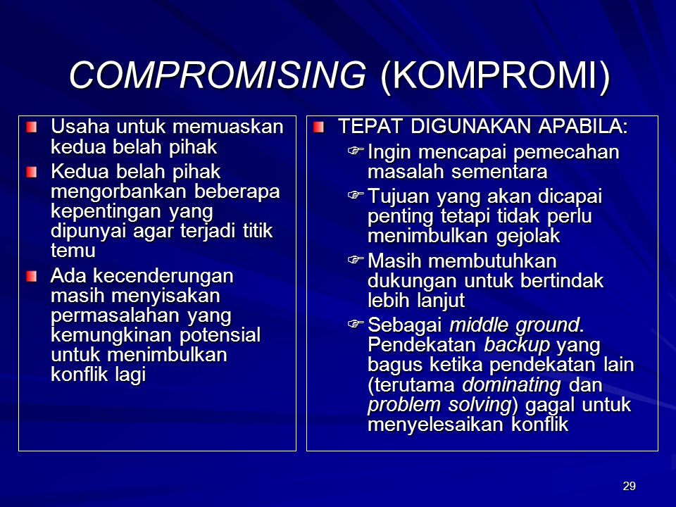 COMPROMISING (KOMPROMI)