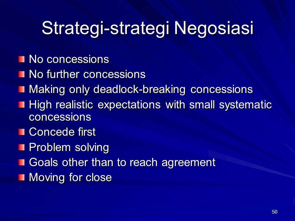 Strategi-strategi Negosiasi