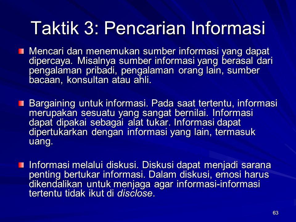 Taktik 3: Pencarian Informasi