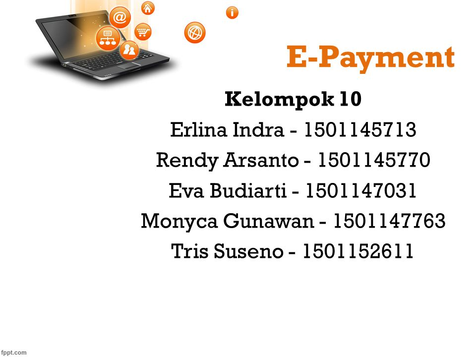 E-Payment Kelompok 10 Erlina Indra - 1501145713