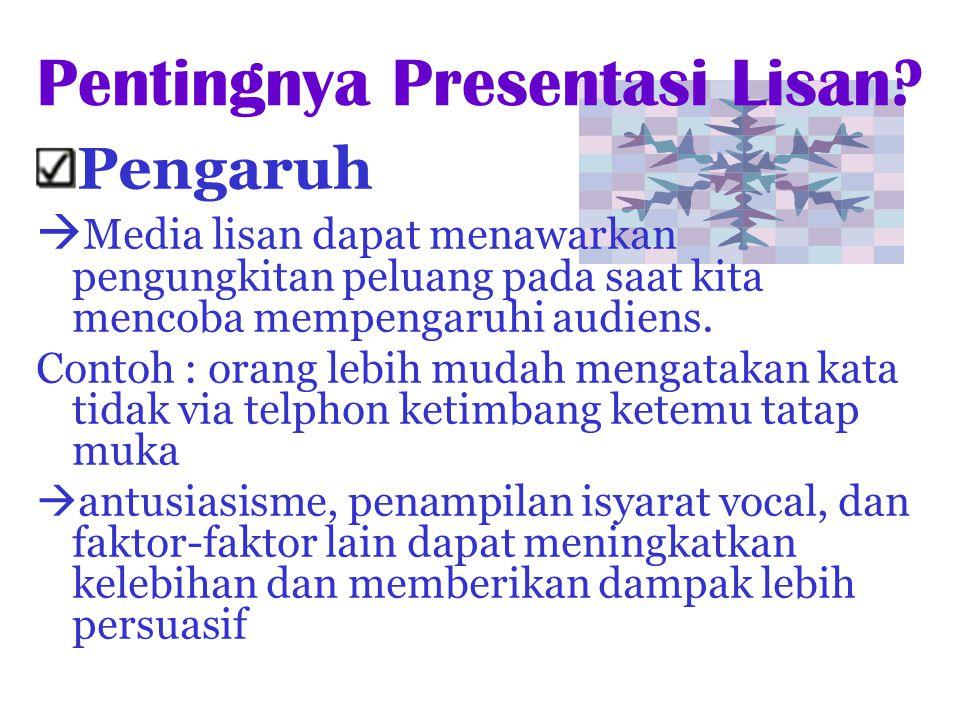 Pentingnya Presentasi Lisan