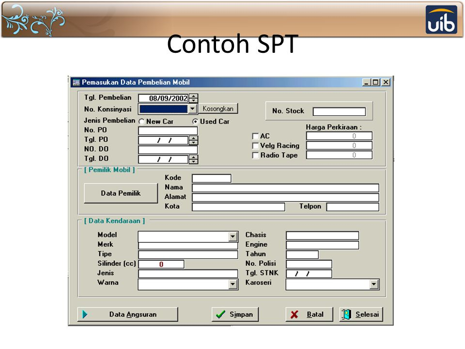 Contoh SPT
