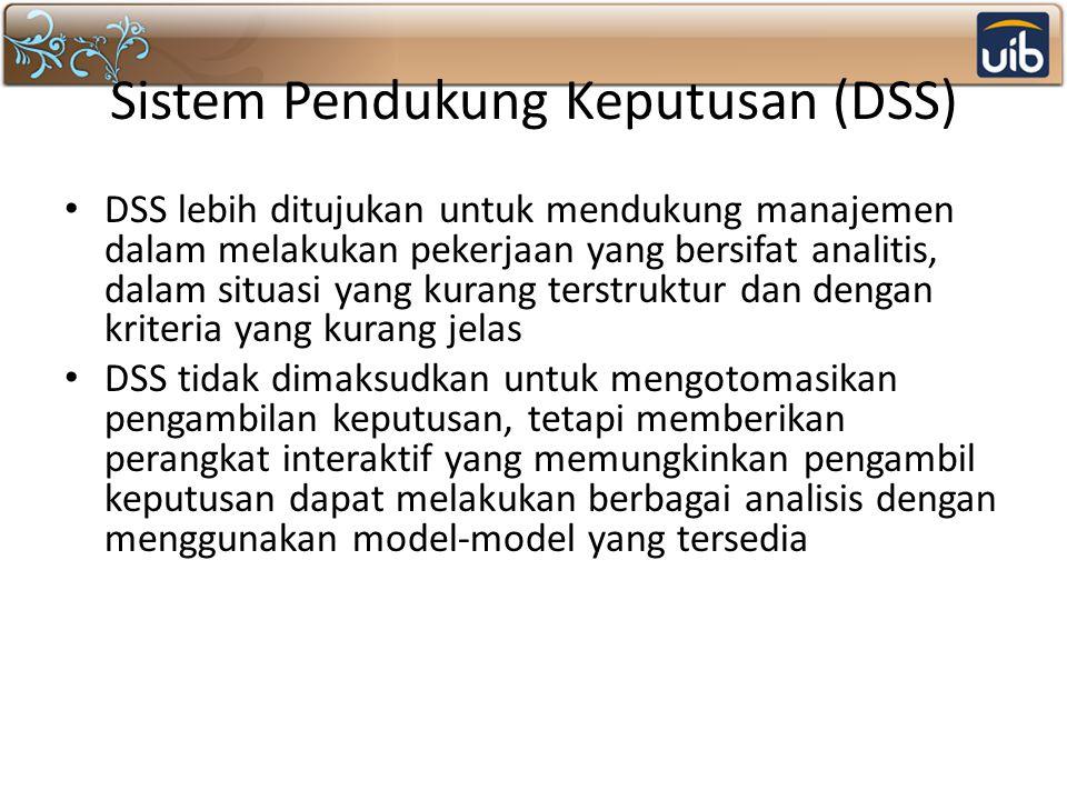 Sistem Pendukung Keputusan (DSS)