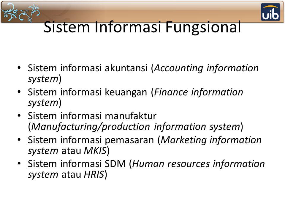 Sistem Informasi Fungsional