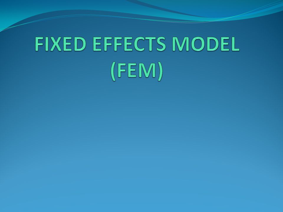 FIXED EFFECTS MODEL (FEM)