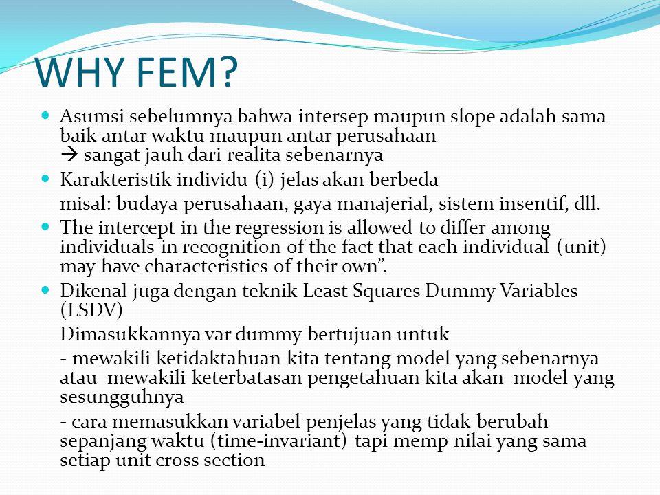 WHY FEM