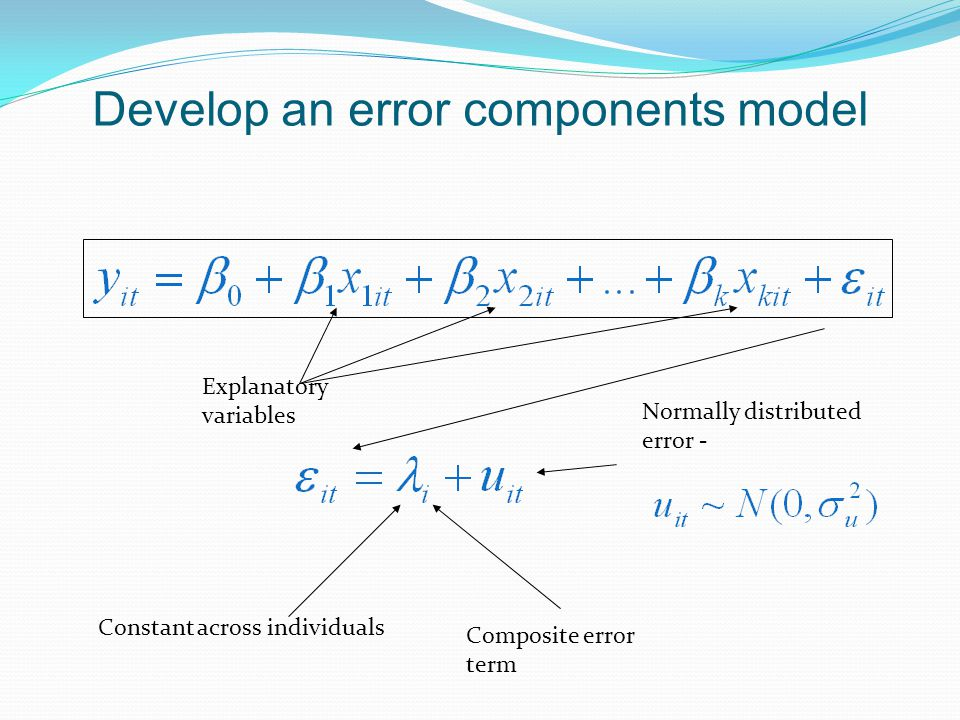 Develop an error components model