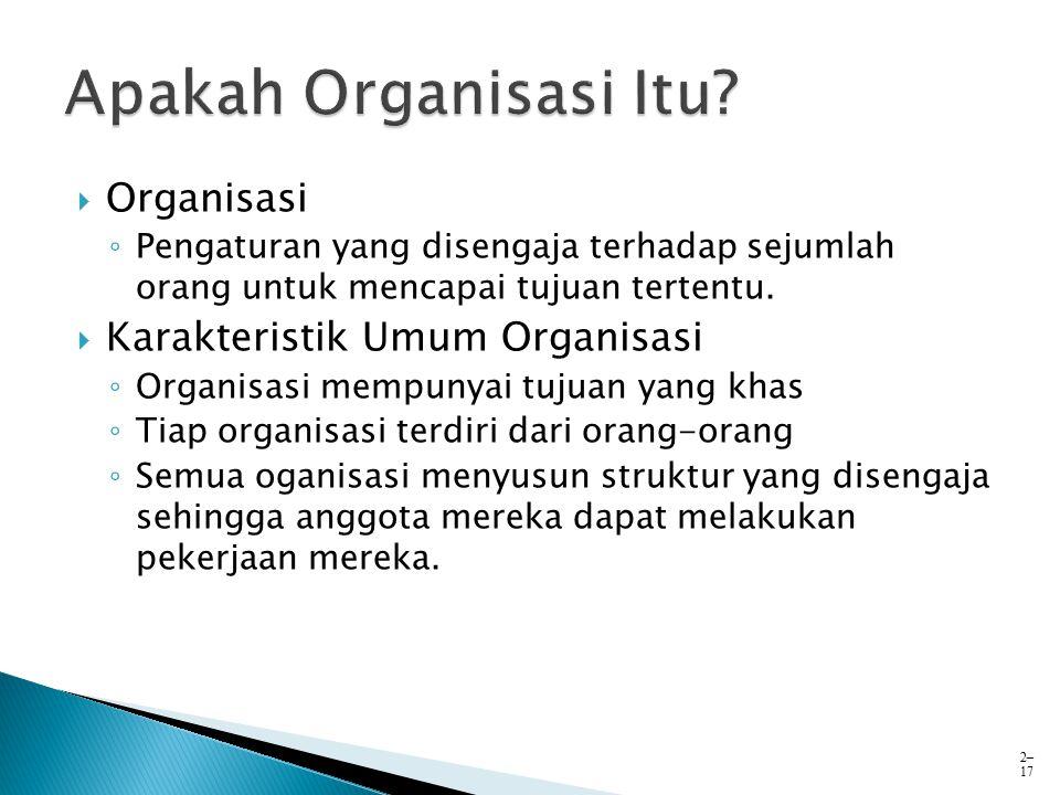 Apakah Organisasi Itu Organisasi Karakteristik Umum Organisasi
