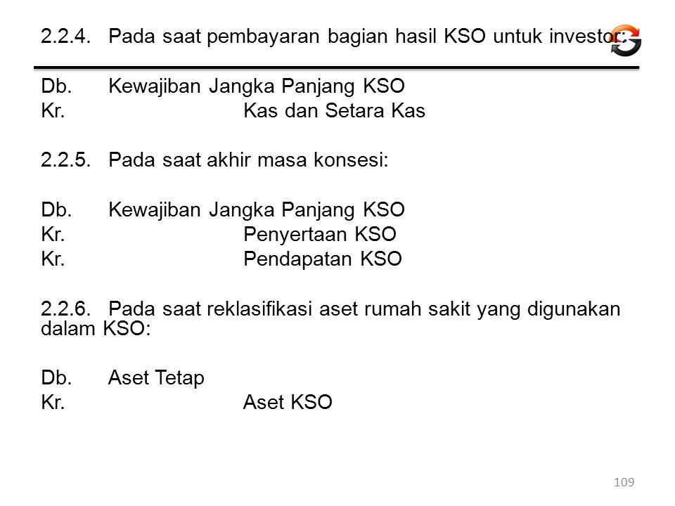 2. 2. 4. Pada saat pembayaran bagian hasil KSO untuk investor: Db