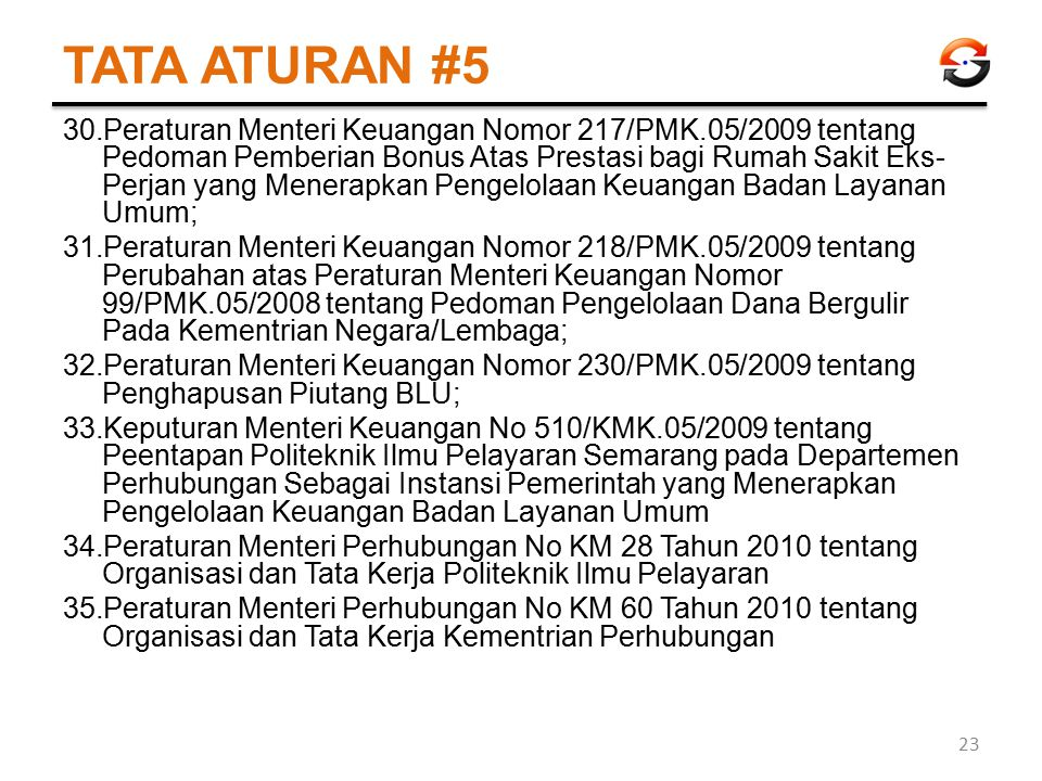 TATA ATURAN #5