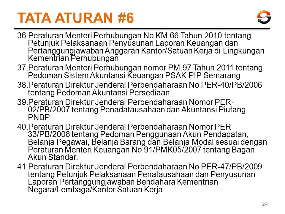 TATA ATURAN #6