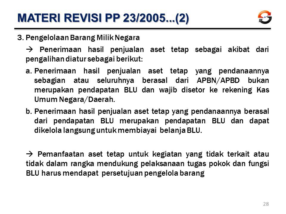 MATERI REVISI PP 23/2005...(2) Pengelolaan Barang Milik Negara