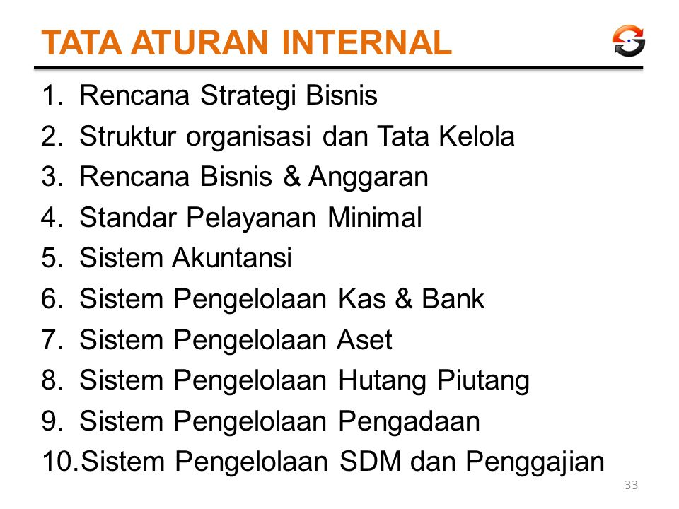 TATA ATURAN INTERNAL Rencana Strategi Bisnis