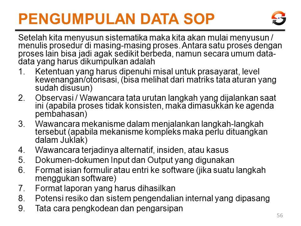 PENGUMPULAN DATA SOP