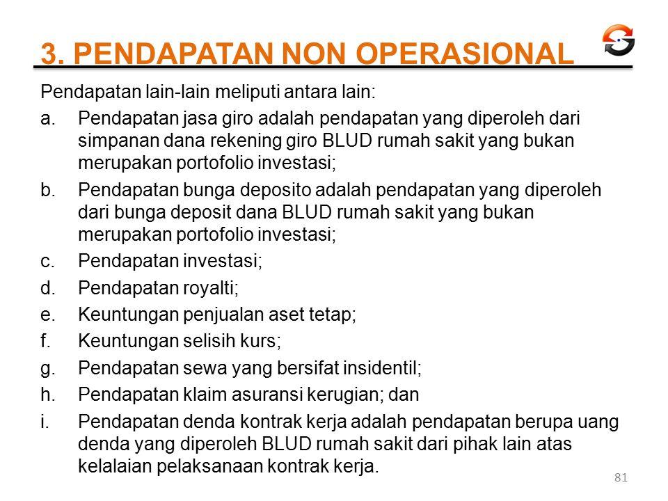 3. PENDAPATAN NON OPERASIONAL
