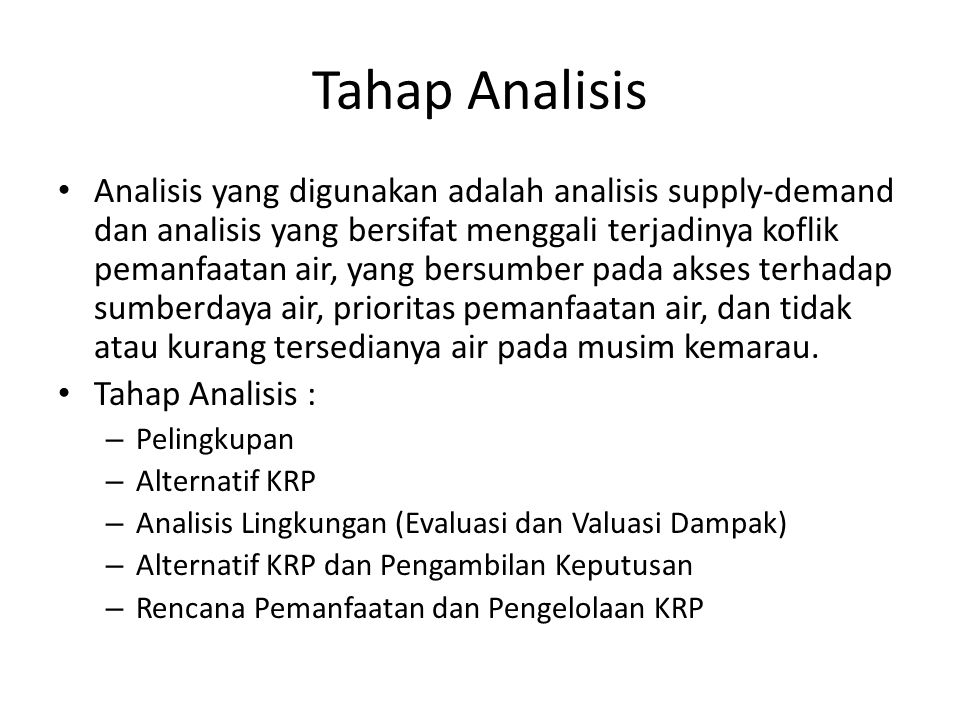 Tahap Analisis