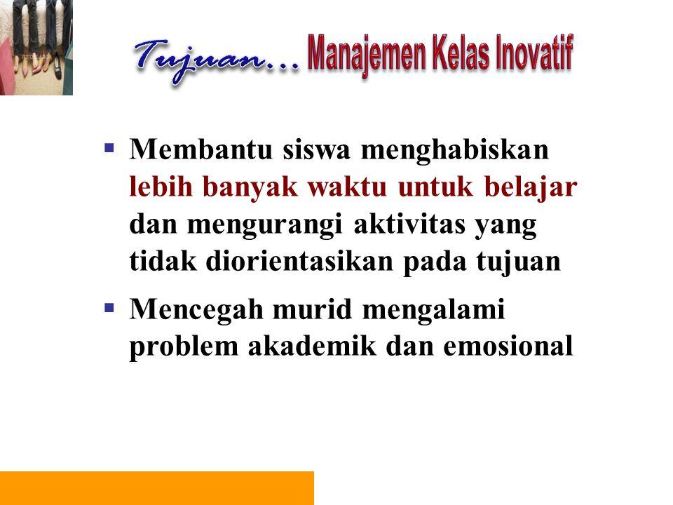 Manajemen Kelas Inovatif
