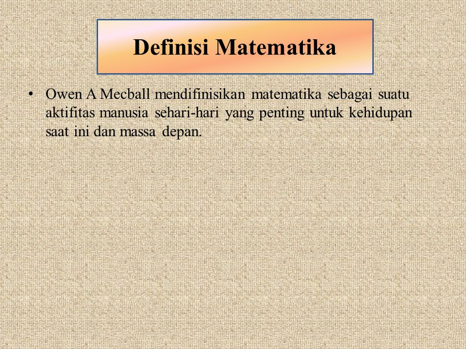 Definisi Matematika