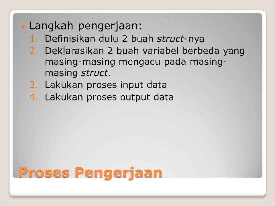 Proses Pengerjaan Langkah pengerjaan: