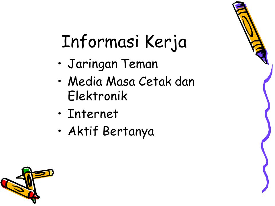 Informasi Kerja Jaringan Teman Media Masa Cetak dan Elektronik