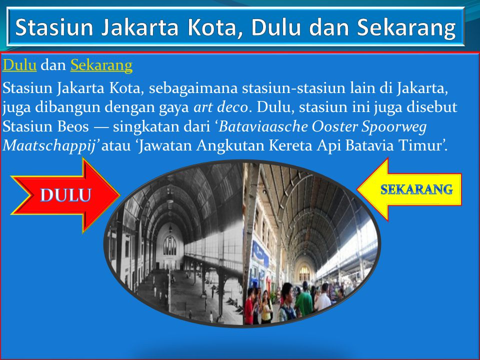 Stasiun Jakarta Kota, Dulu dan Sekarang