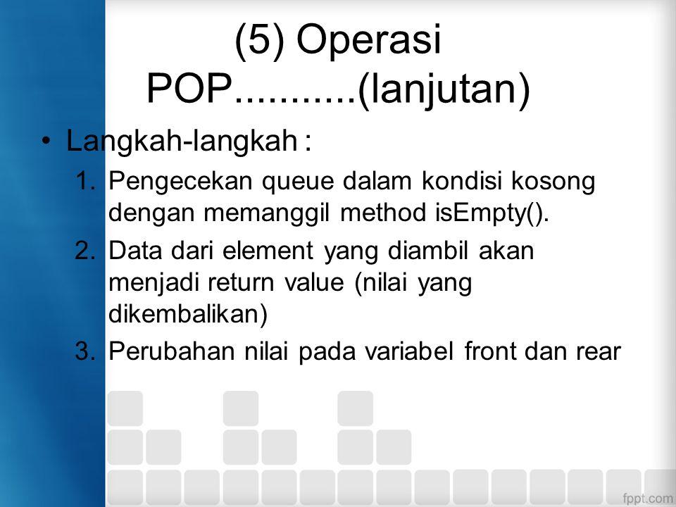 (5) Operasi POP...........(lanjutan)