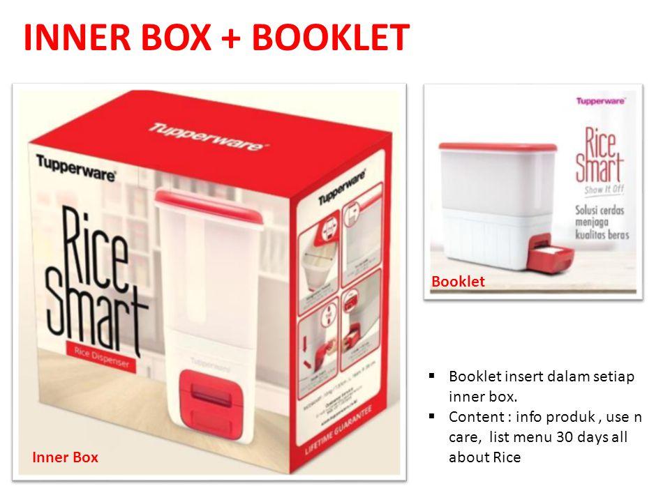INNER BOX + BOOKLET Booklet Booklet insert dalam setiap inner box.