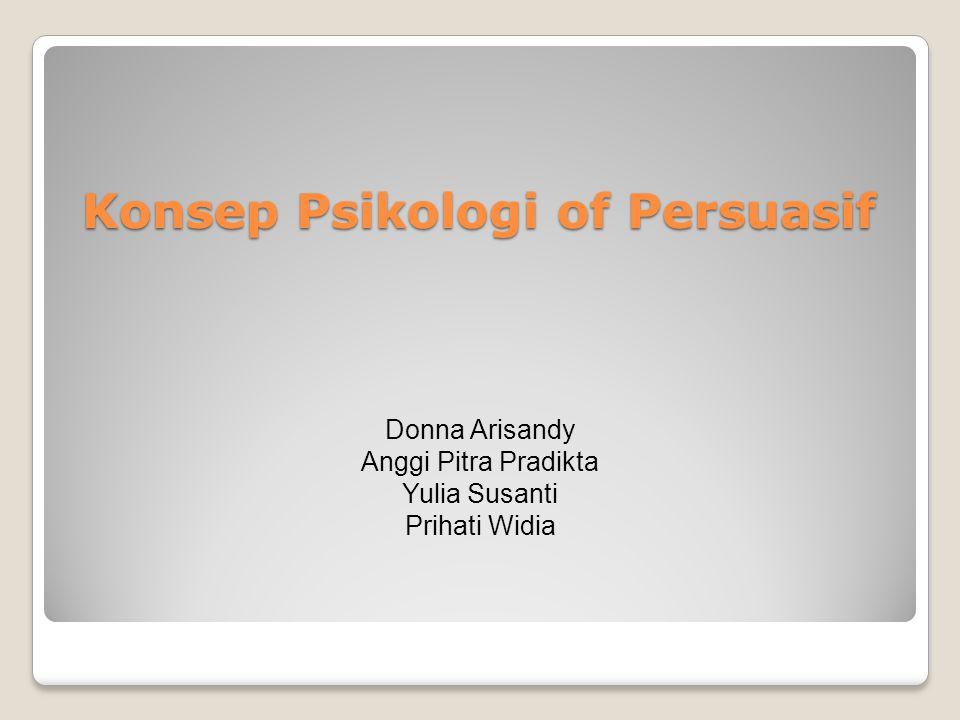 Konsep Psikologi of Persuasif