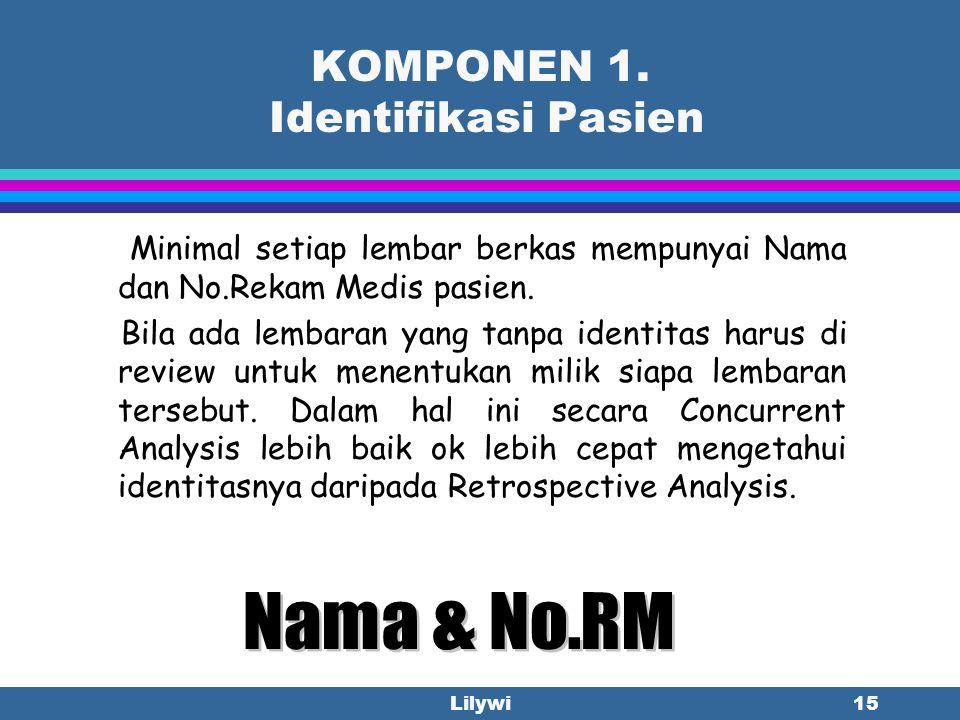 KOMPONEN 1. Identifikasi Pasien