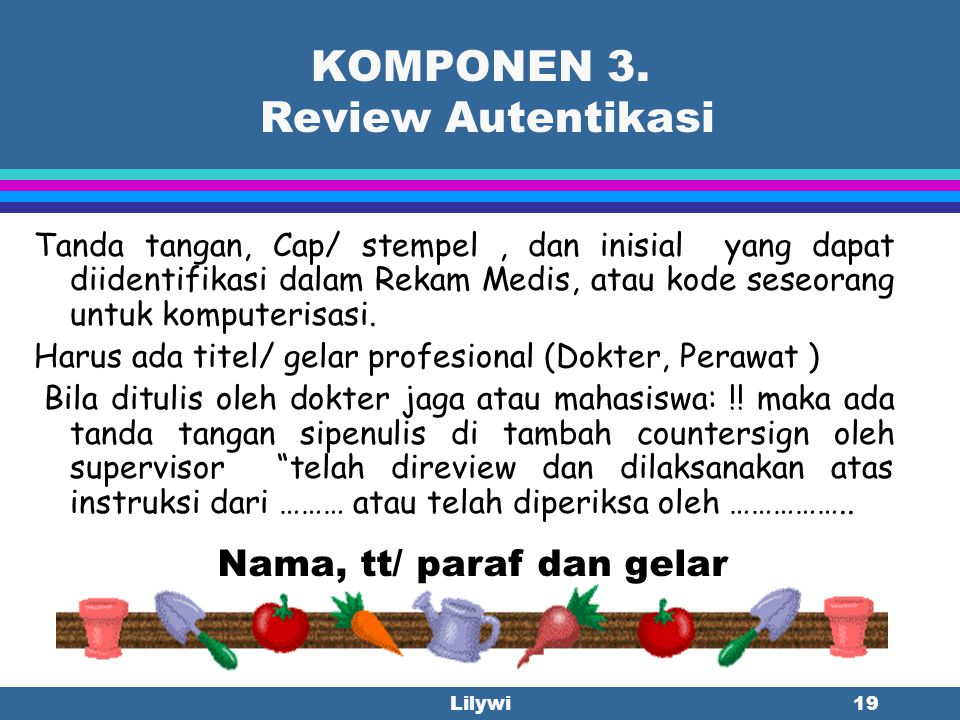 KOMPONEN 3. Review Autentikasi