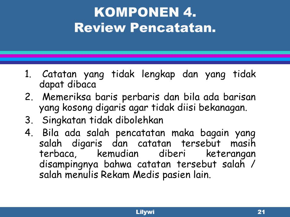 KOMPONEN 4. Review Pencatatan.