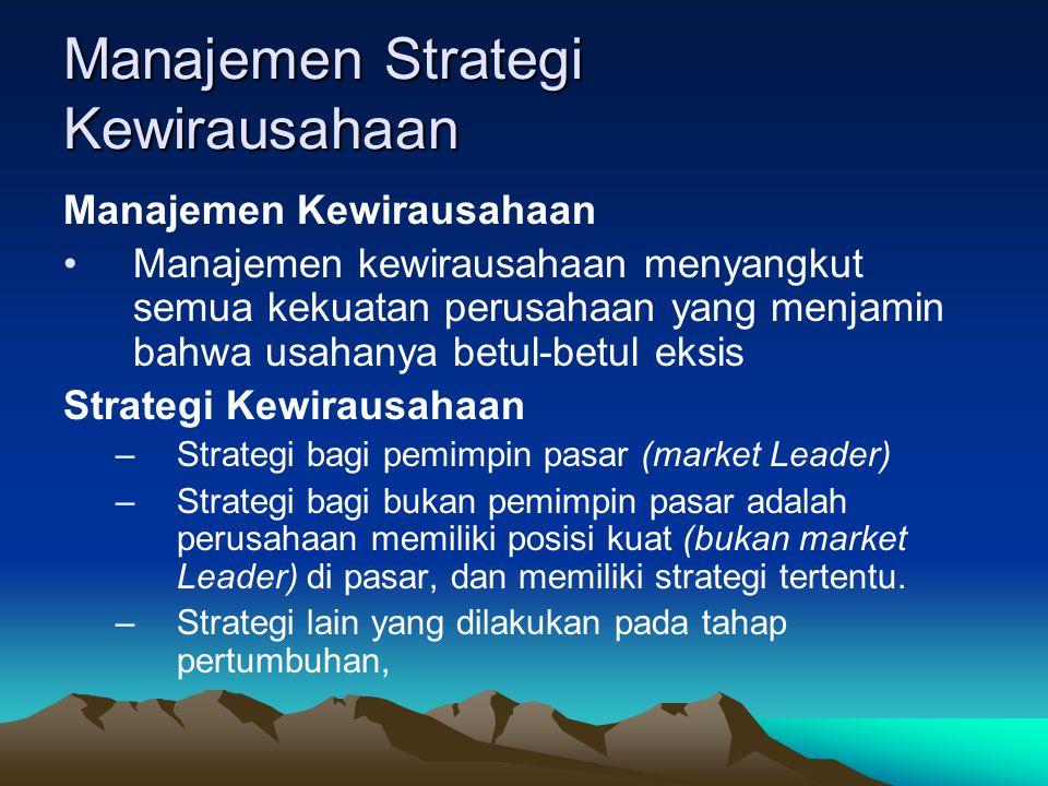 Manajemen Strategi Kewirausahaan