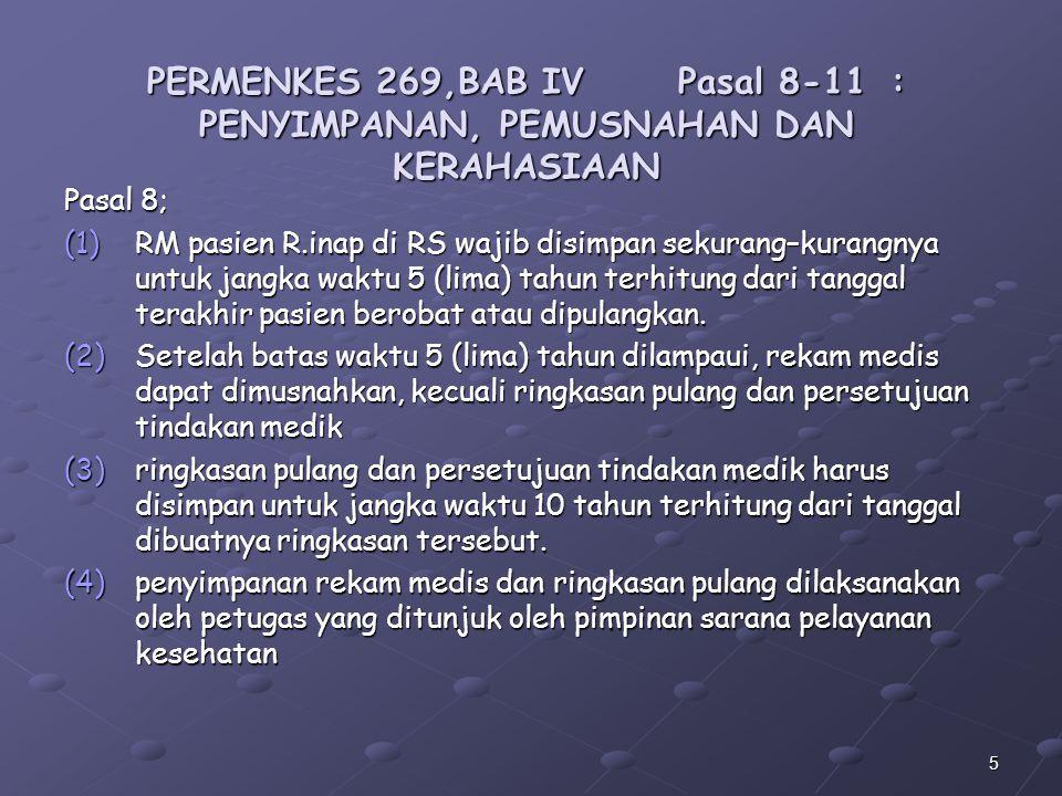 PERMENKES 269,BAB IV. Pasal 8-11