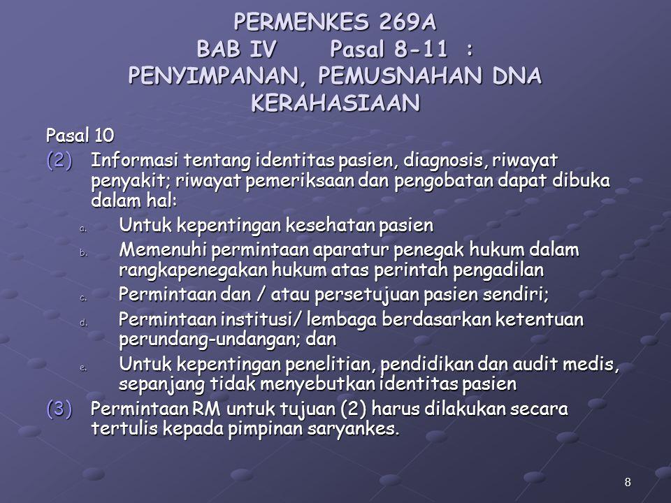 PERMENKES 269A BAB IV. Pasal 8-11