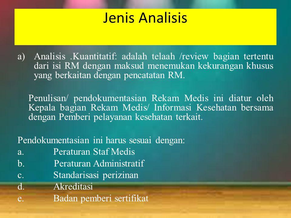 Jenis Analisis