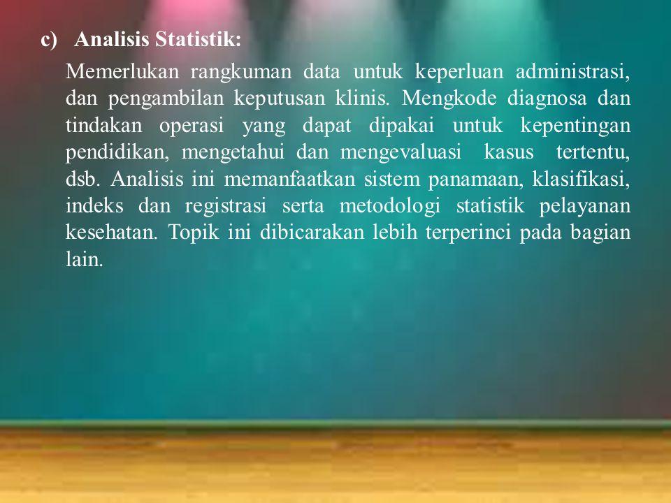 Analisis Statistik: