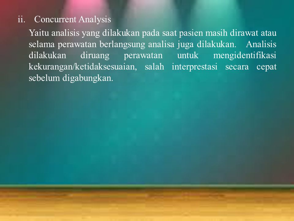 Concurrent Analysis