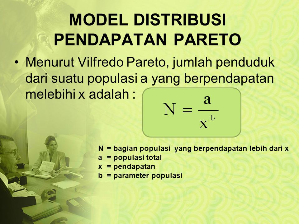 MODEL DISTRIBUSI PENDAPATAN PARETO
