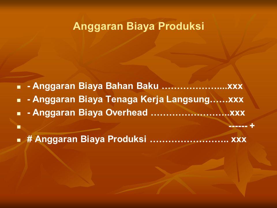 Anggaran Biaya Produksi