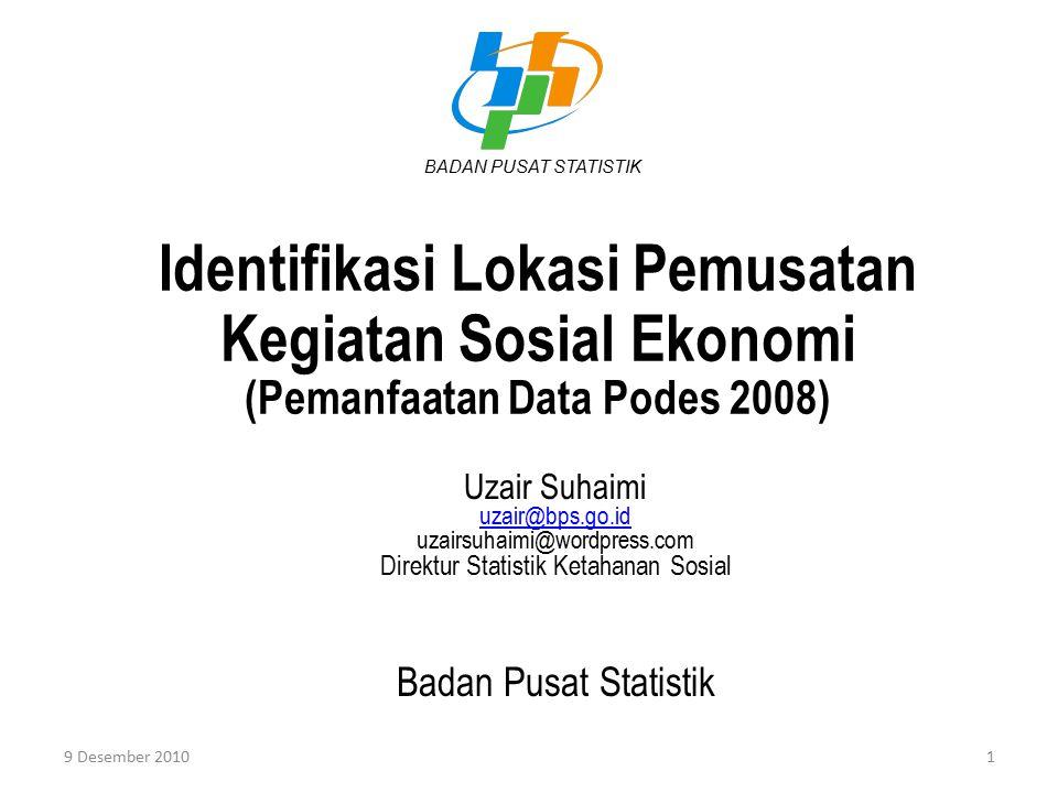 Direktur Statistik Ketahanan Sosial