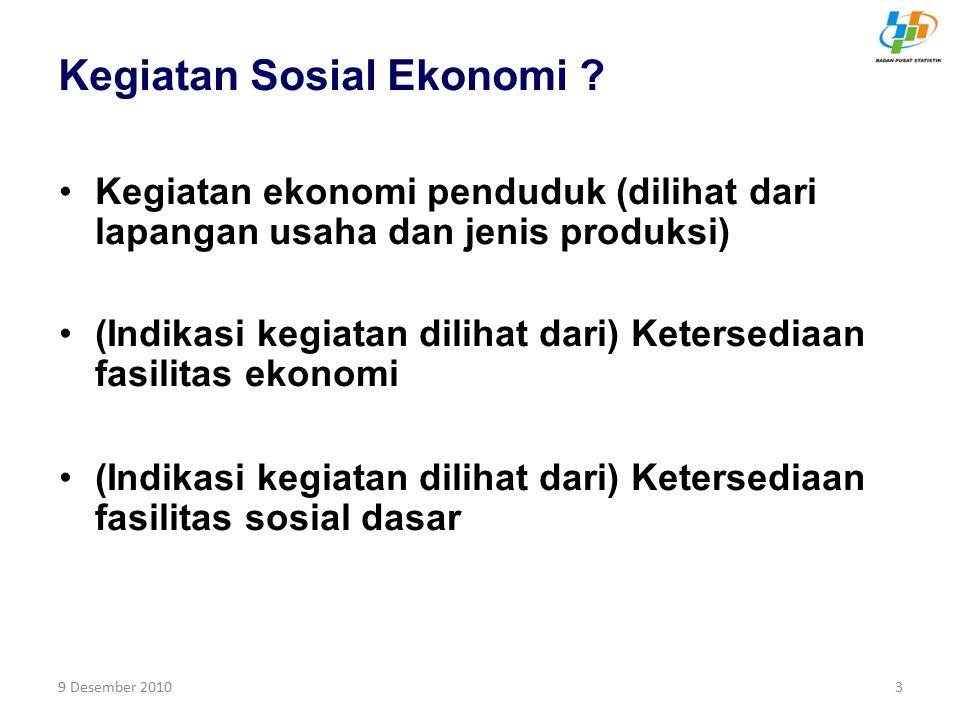 Kegiatan Sosial Ekonomi