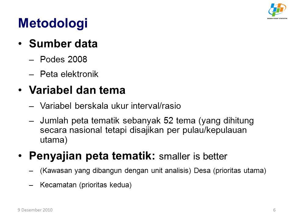 Metodologi Sumber data Variabel dan tema
