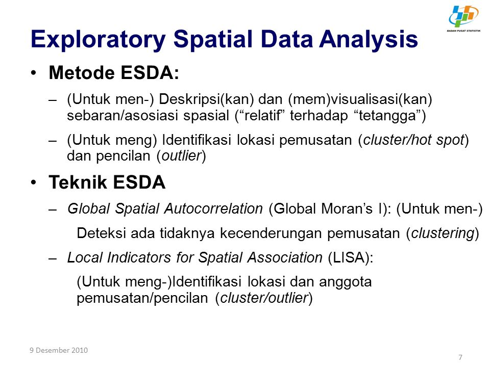 Exploratory Spatial Data Analysis