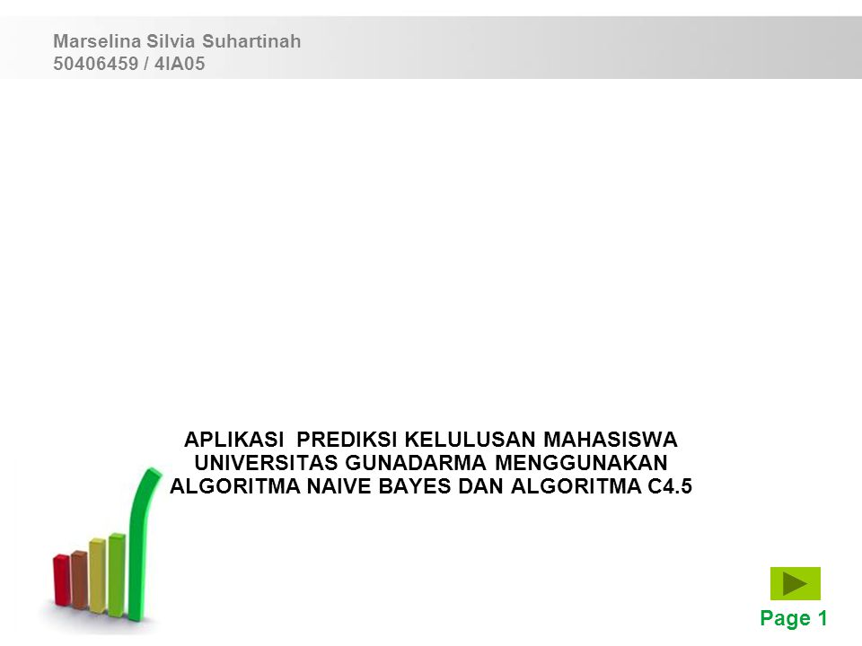 Marselina Silvia Suhartinah 50406459 / 4IA05