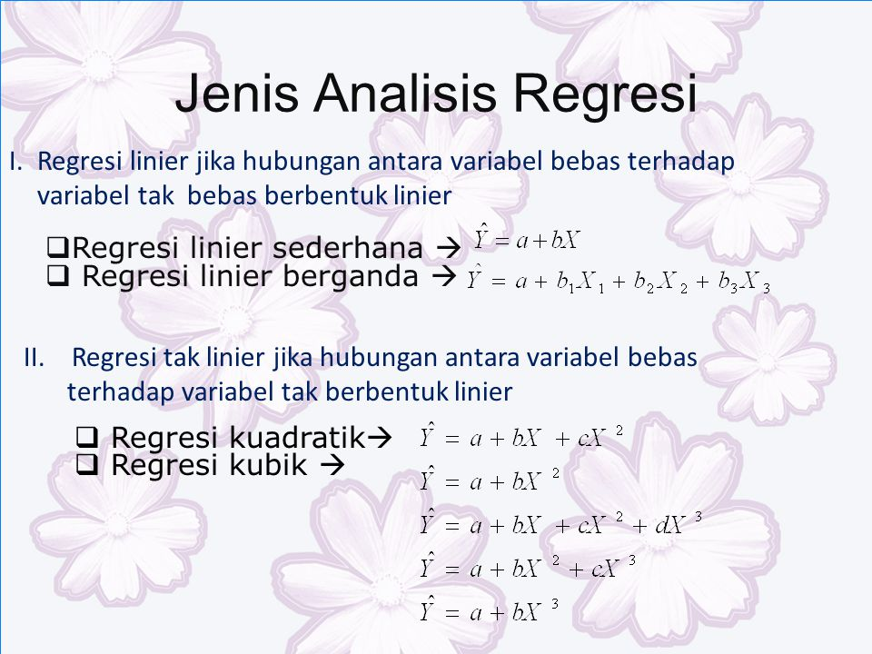 Jenis Analisis Regresi