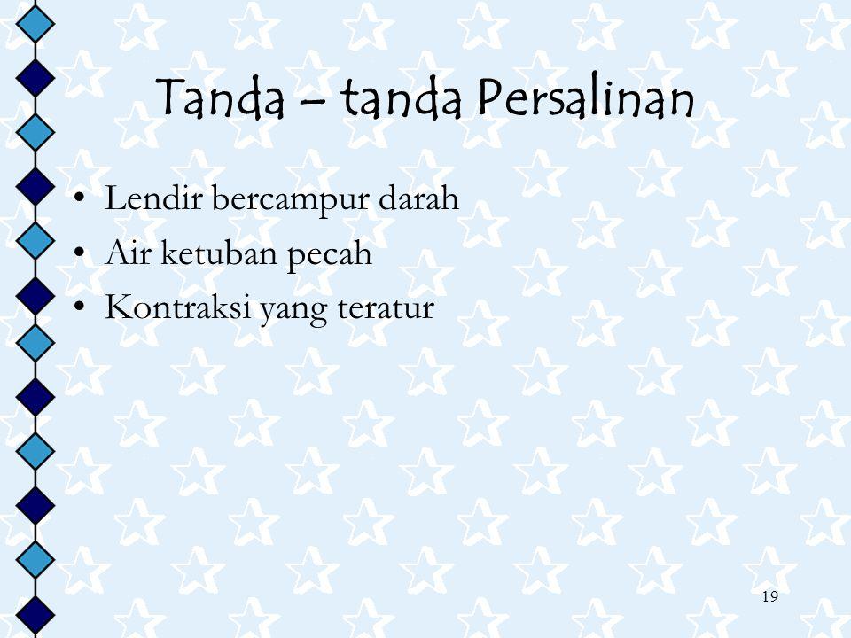 Tanda – tanda Persalinan