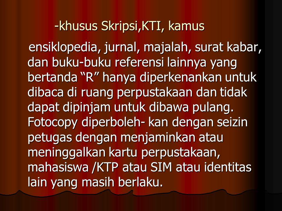 -khusus Skripsi,KTI, kamus
